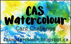 CAS Watercolour Card Challenge