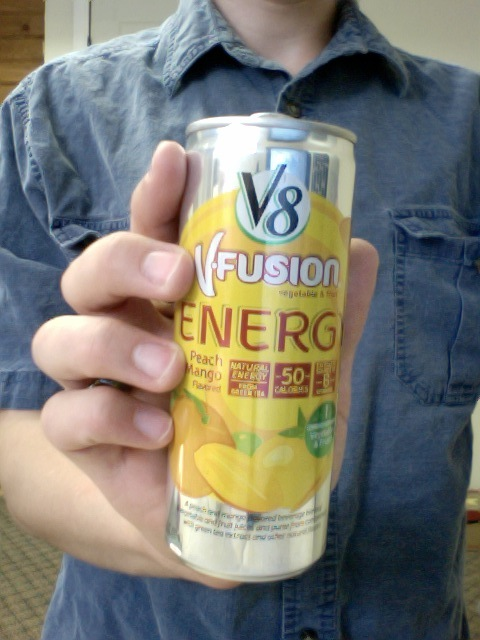 V8 Energy Review >> Caffeine Review For V8 V Fusion Energy Peach Mango