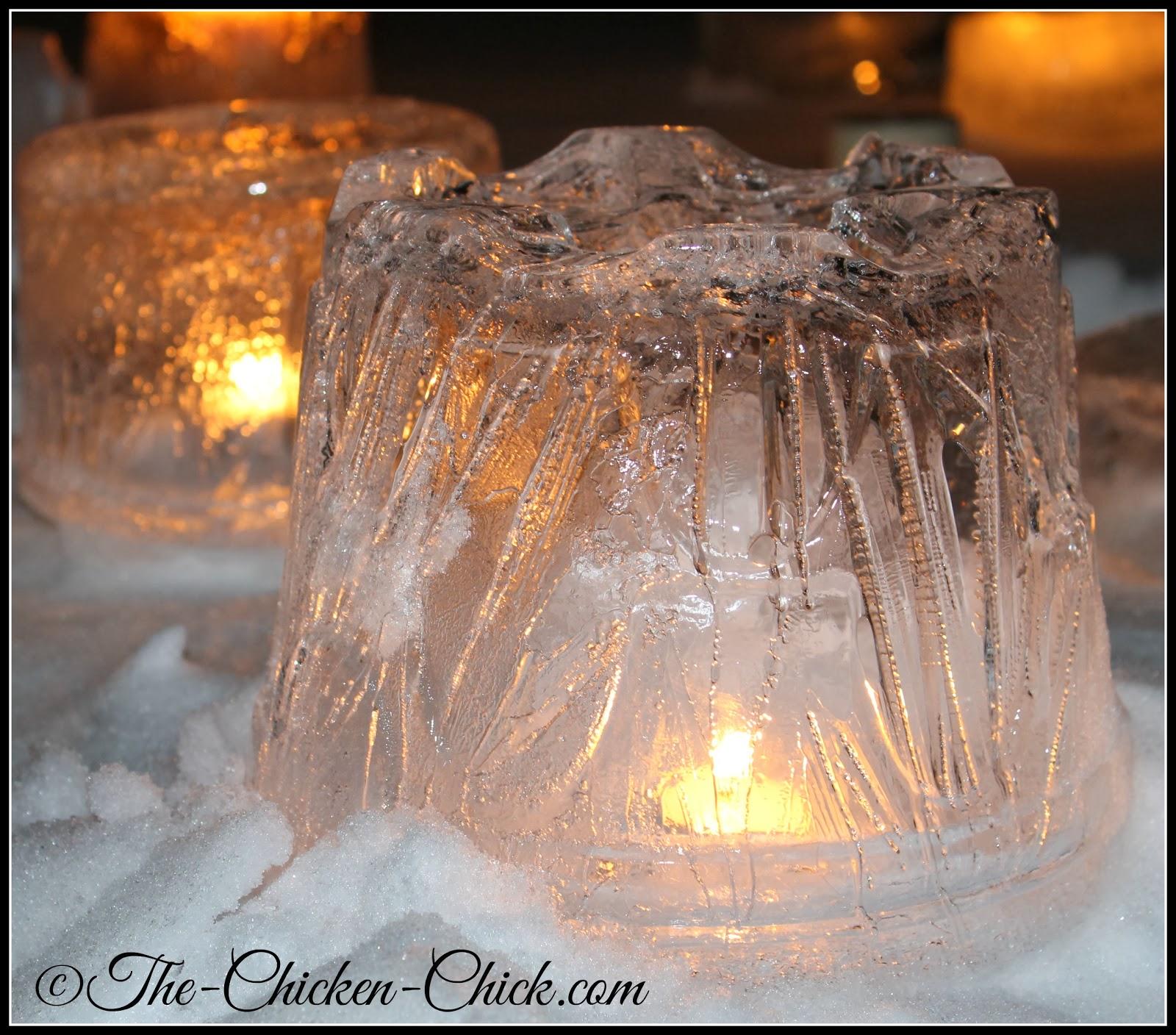 DIY ice lantern