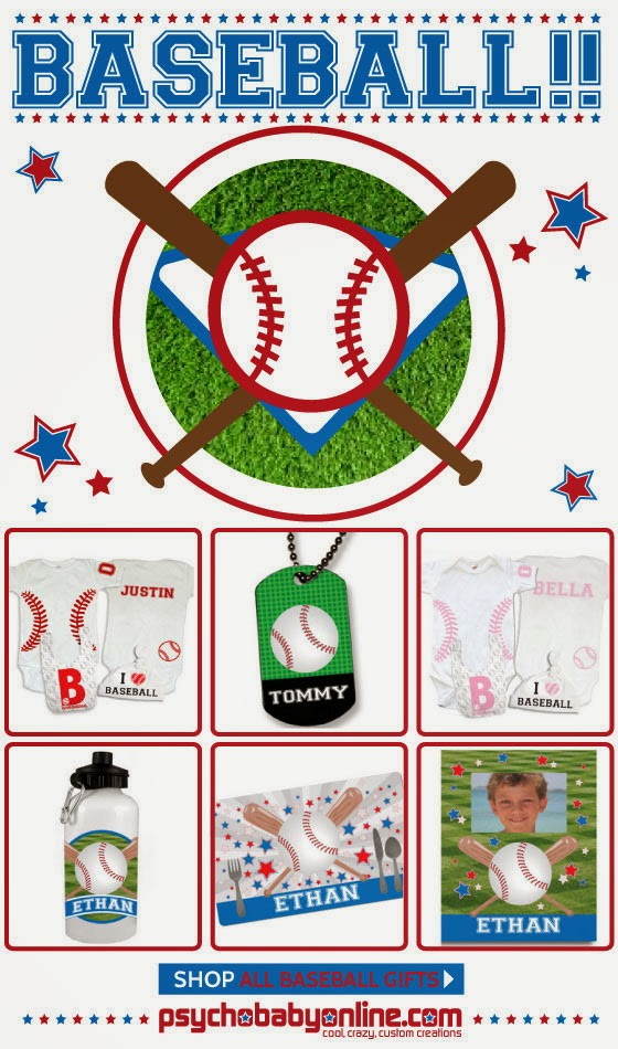 Baseball Gifts and Clothing for Baby & Kids