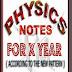 10th X Class Physics Notes English
