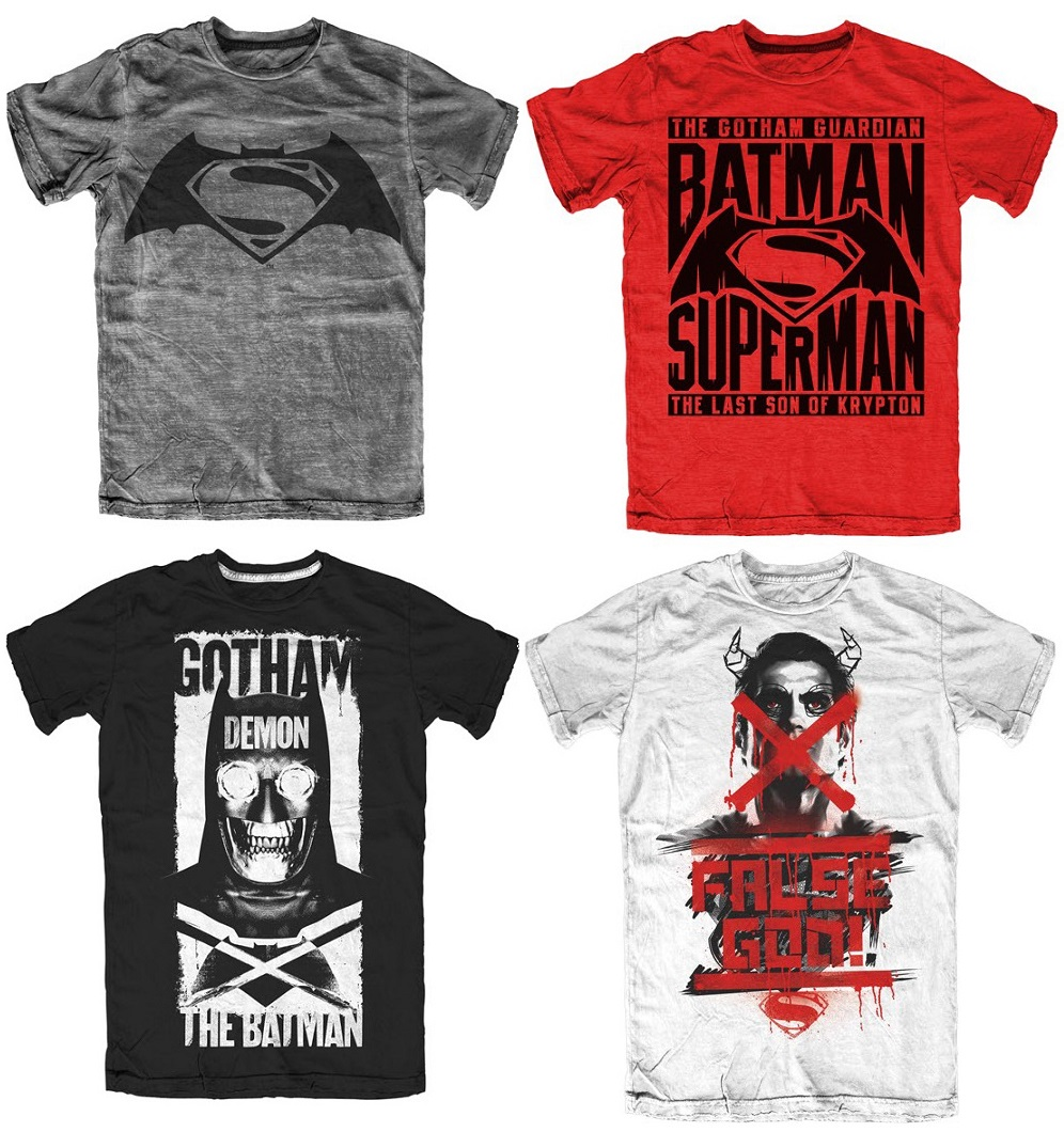 Batman v Superman: Dawn of Justice Officially Licensed T-Shirts