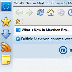 capture d'écran de Maxthon