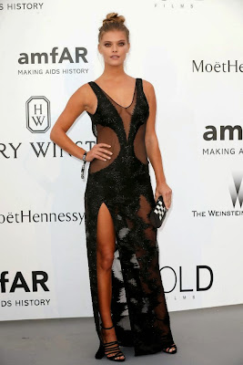 Nina Agdal in Sheer Dress at the amfAR's 22nd Cinema Against AIDS Gala Dresses