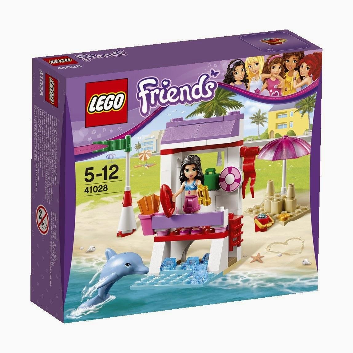 TOYS - LEGO Friends - 41028 El Puesto de Socorrista de Emma  Juguete Oficial | Emma's Lifeguard Post | A partir de 5 años