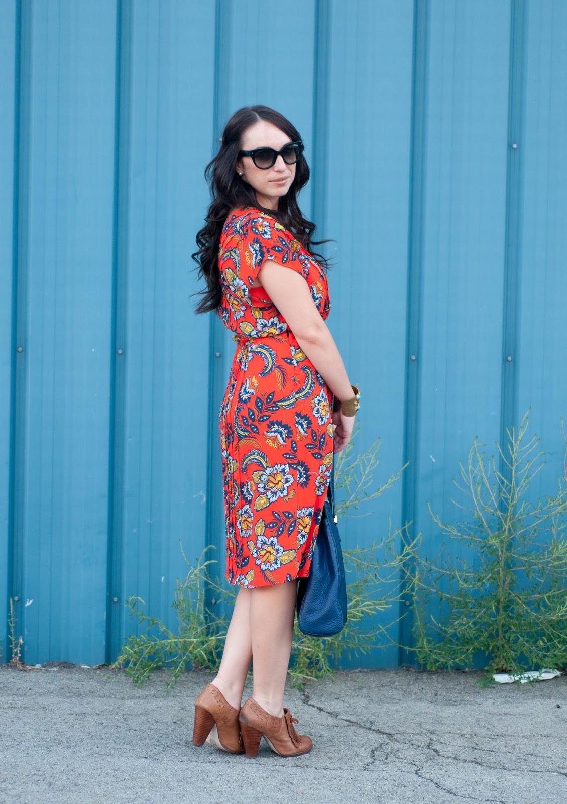 lands end dress, paisley print, boho dress, seychells heels, prada cat eye sunglasses, ootd