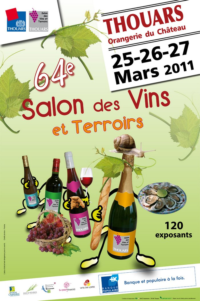 Jim 39 s loire thouars 64th salon des vins et terroirs for Calendrier salon des vins