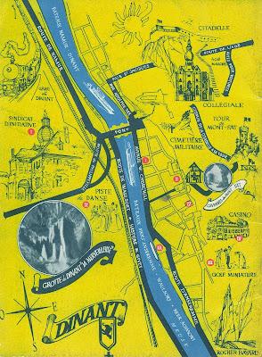 Mapa de Dinant – Bélgica