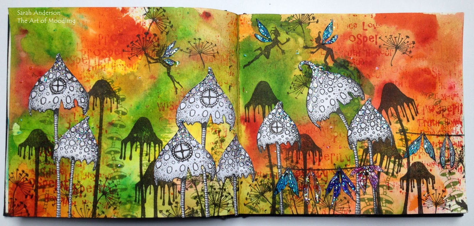 the art of moodling: autumn colours in fairyland