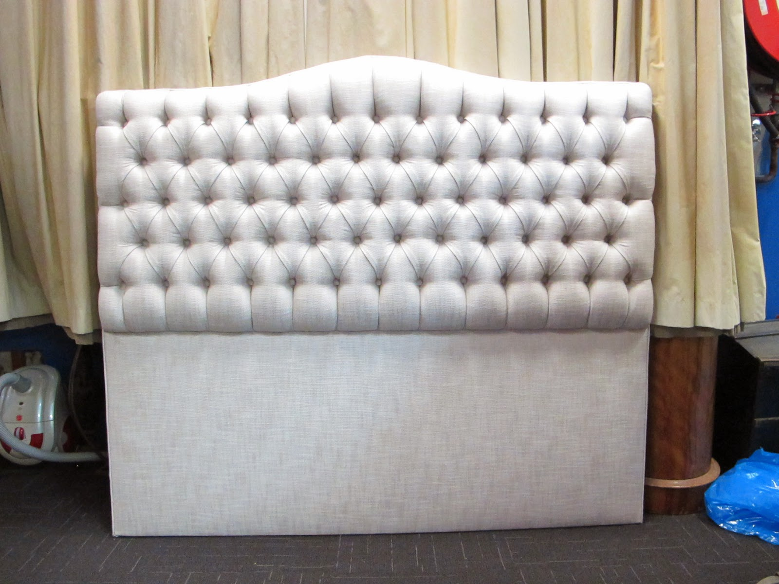 The Ellie padded headboard is beautiful with deep diamond buttoned detail.