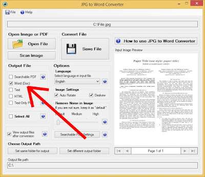 Easily convert your files to word document