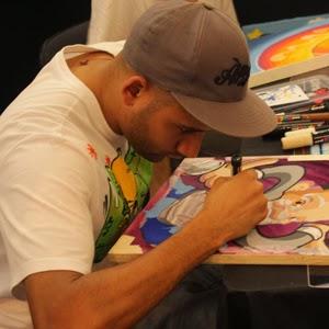Arte em um dos Stands da feira