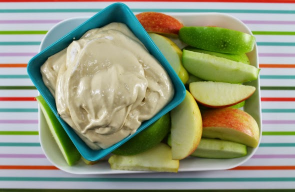 Caramel Apple Dip: cream cheese, brown sugar, caramel ice cream topping, marshmallow cream -- amazing!