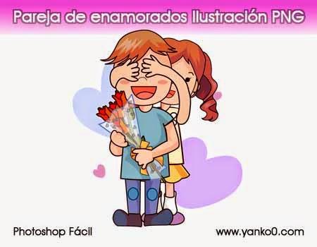 Pareja de enamorados, ilustración, PNG