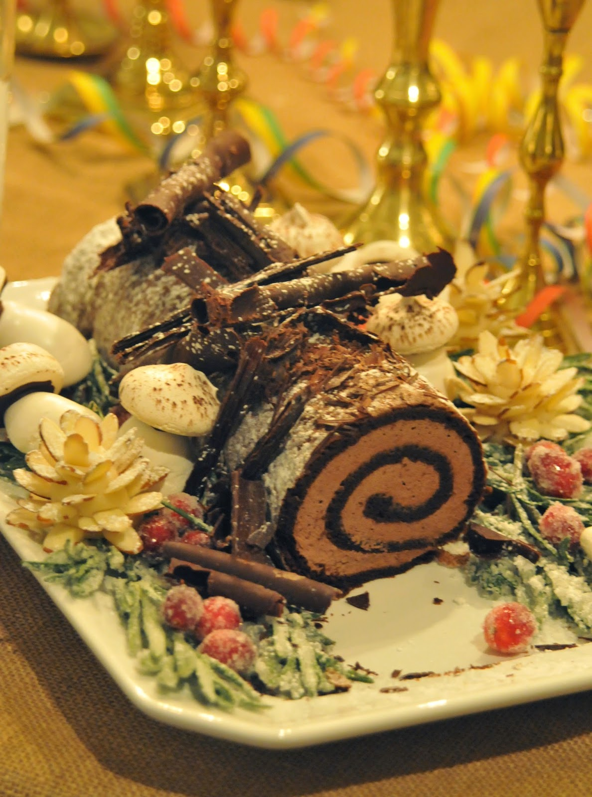 NINE + SIXTEEN: Happy New Year + Recipe for Buche de Noel