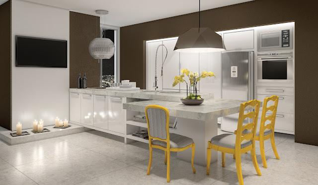 cozinha planejada alto padrão