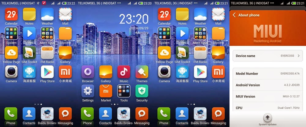 Custom ROM MIUI for Evercoss A7A Terbaru | Super Elegan!