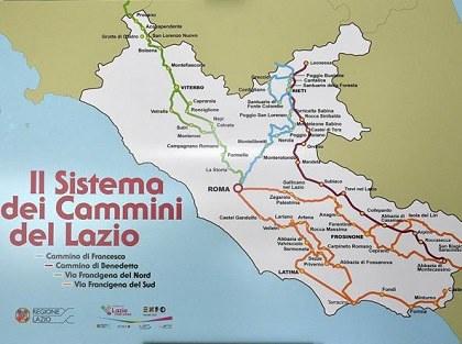 Una proposta per l'Accoglienza Vivenziale (*) lungo i Cammini Religiosi nel Lazio
