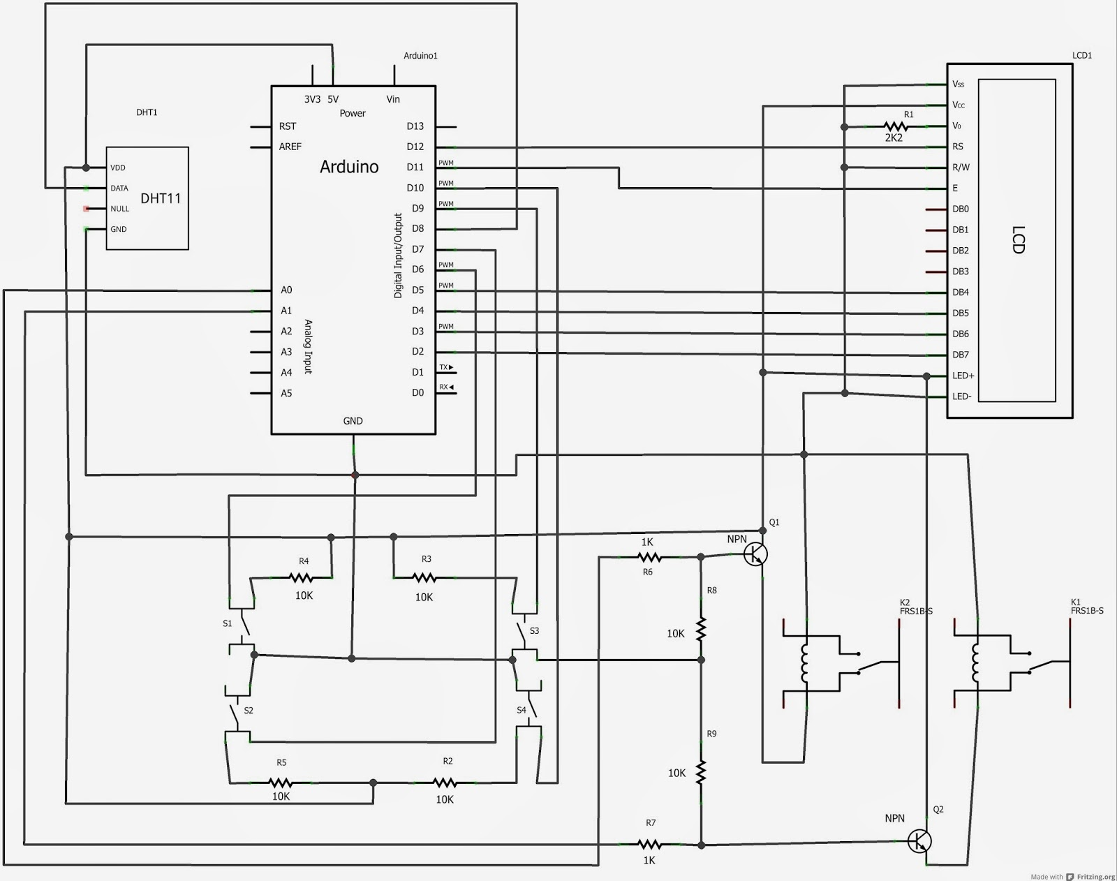 schema elettrico led vs lcd monitor  lcd alfanumerici