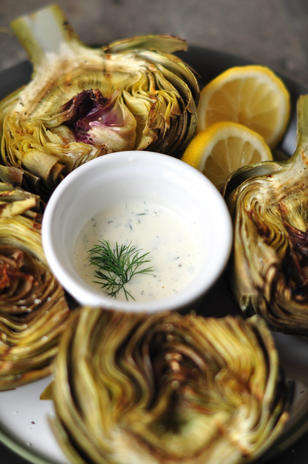 Everything Reconsidered.: grilled artichokes with garlic lemon aioli ...