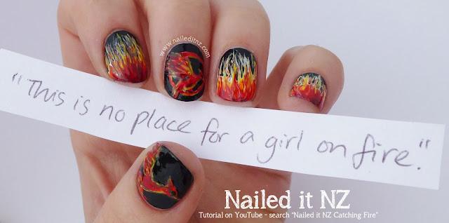 Nail Art Mash Up 6 The Hunger Games Nail Art