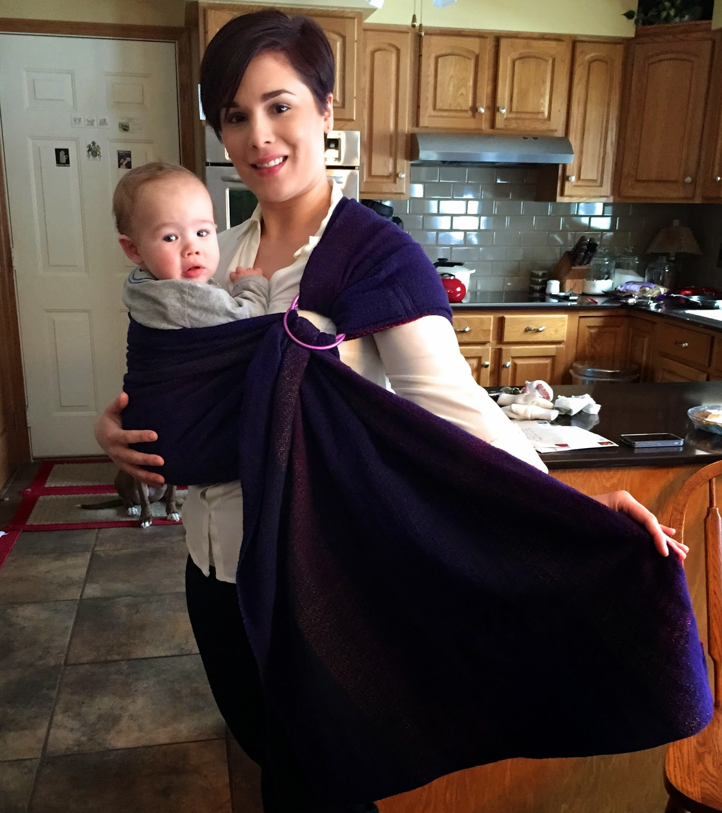 c08547554cf Tummy to tummy carry with a wrap conversion ring sling by SBP