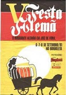 CARTAZ DA FESTA ALEMÃ DE 1991