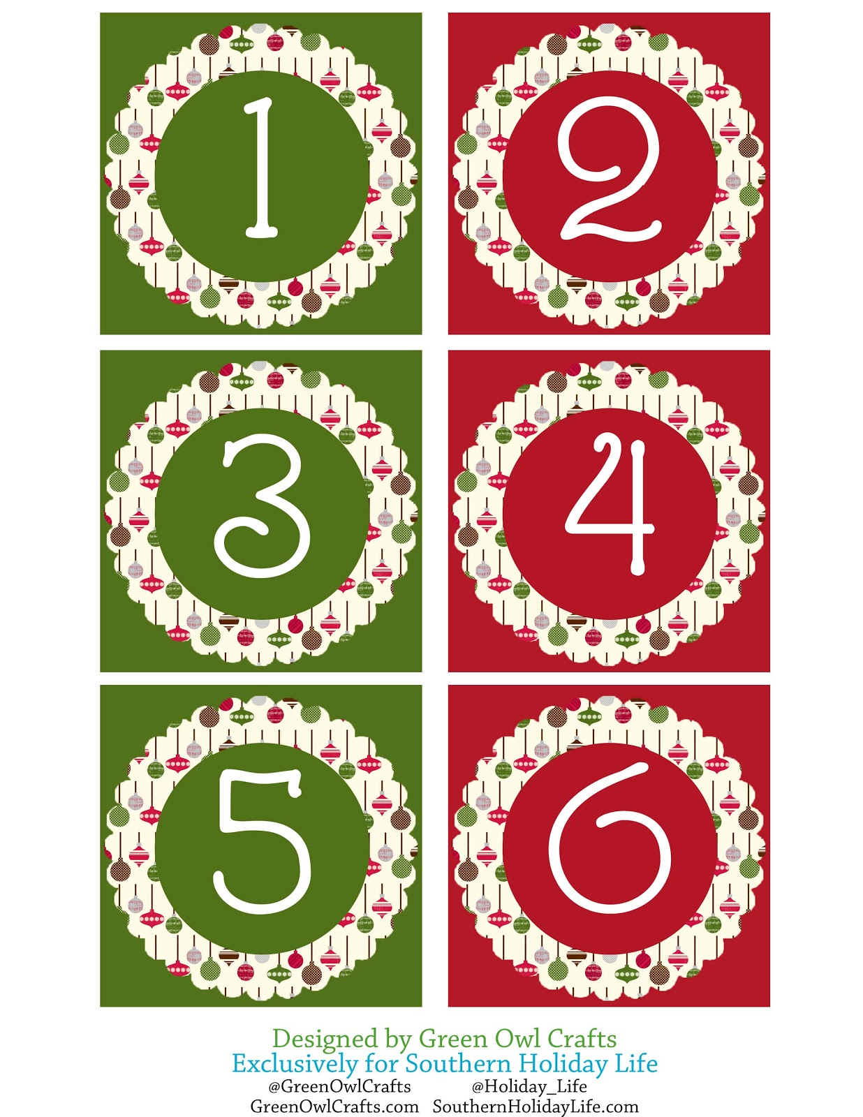 Impeccable image with regard to christmas numbers printable