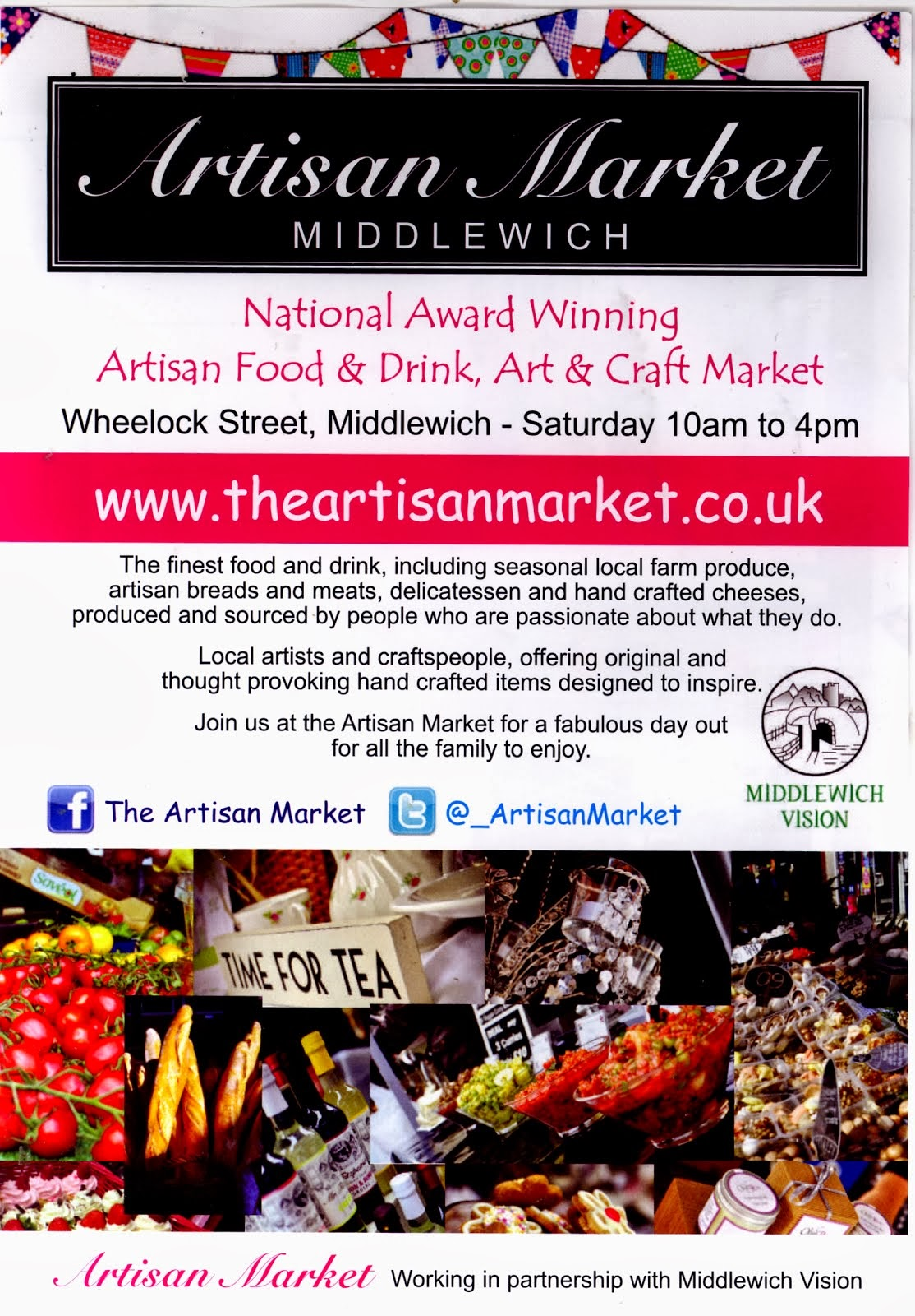 MIDDLEWICH ARTISAN MARKET DATES FOR  2014