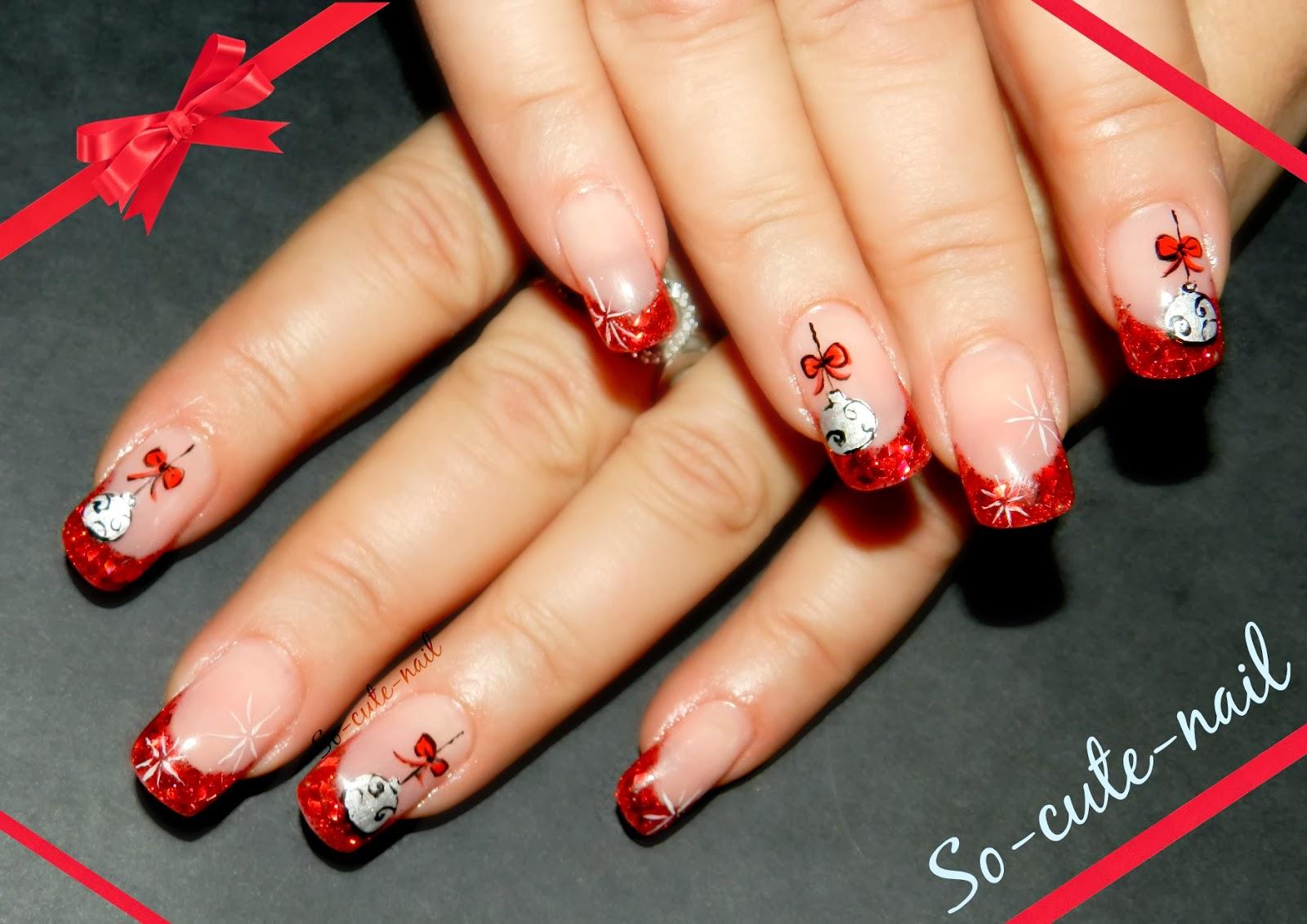 ce nail art est un inspire d un nail art de noel que cherry a fait l annee derniere oui cette annee je n ai pas trop de nouveaute