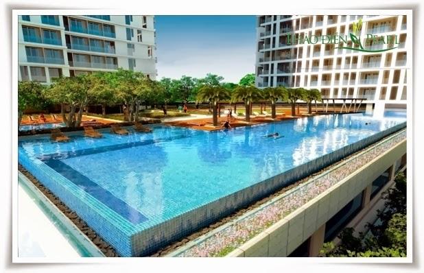 Hồ bơi lớn hiện đại sang trọng tại căn hộ Thảo Điền Pearl