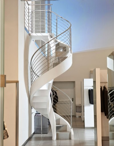 Spiral stairs designs in reinforced concrete stairs for Spiral stair design