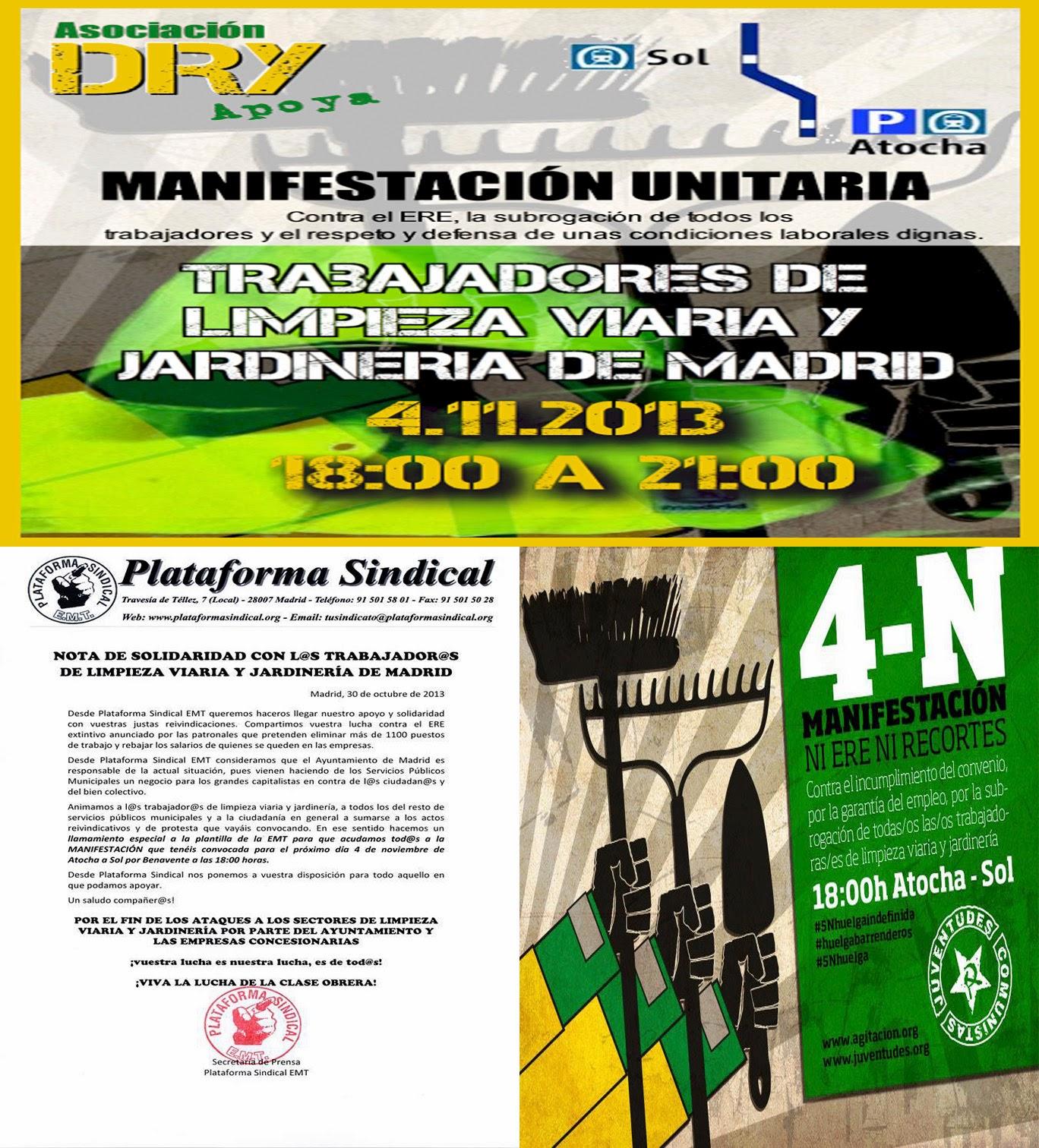 Afectados por los Recortes del Ayuntamiento de Madrid: octubre 2013