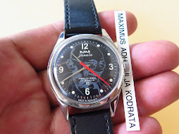 HMT JANATA MILITARY BLACK DIAL - MAHATMA GANDHI LOGO ON DIAL - MANUAL WINDING