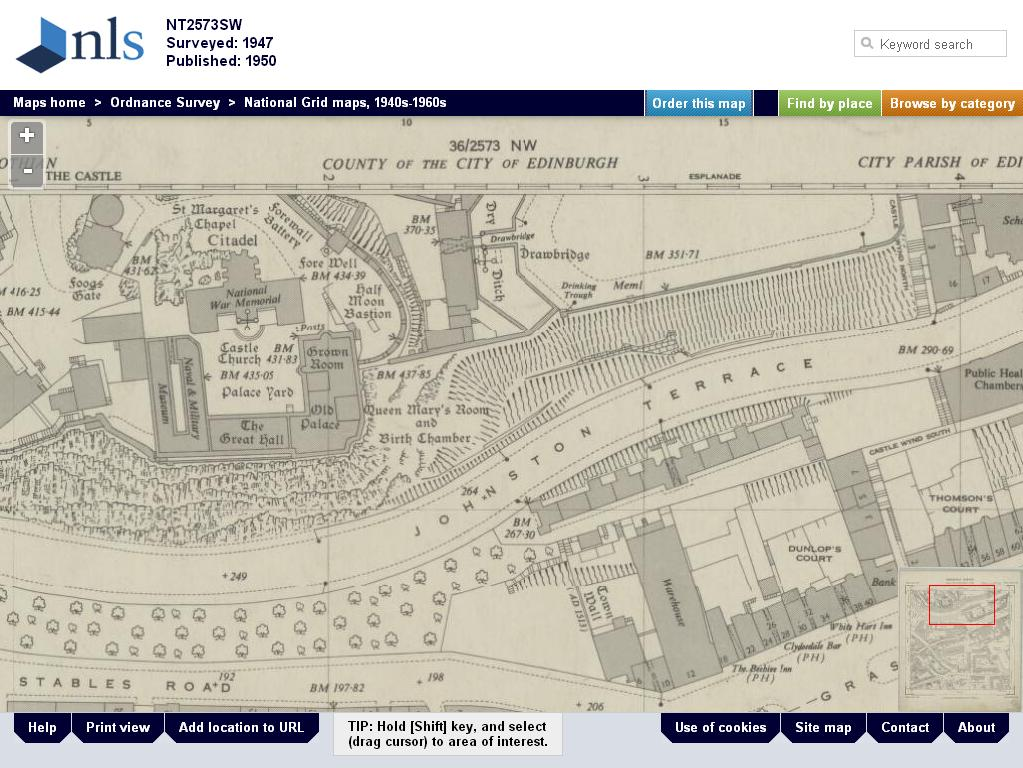 The genes blog post ww2 edinburgh and london os maps online edinburgh castle 1947 fandeluxe Choice Image