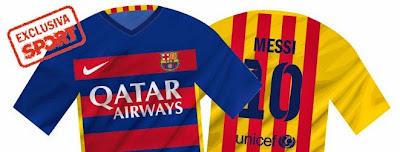 Nuevos Jerseys Barcelona 2015 - 2016