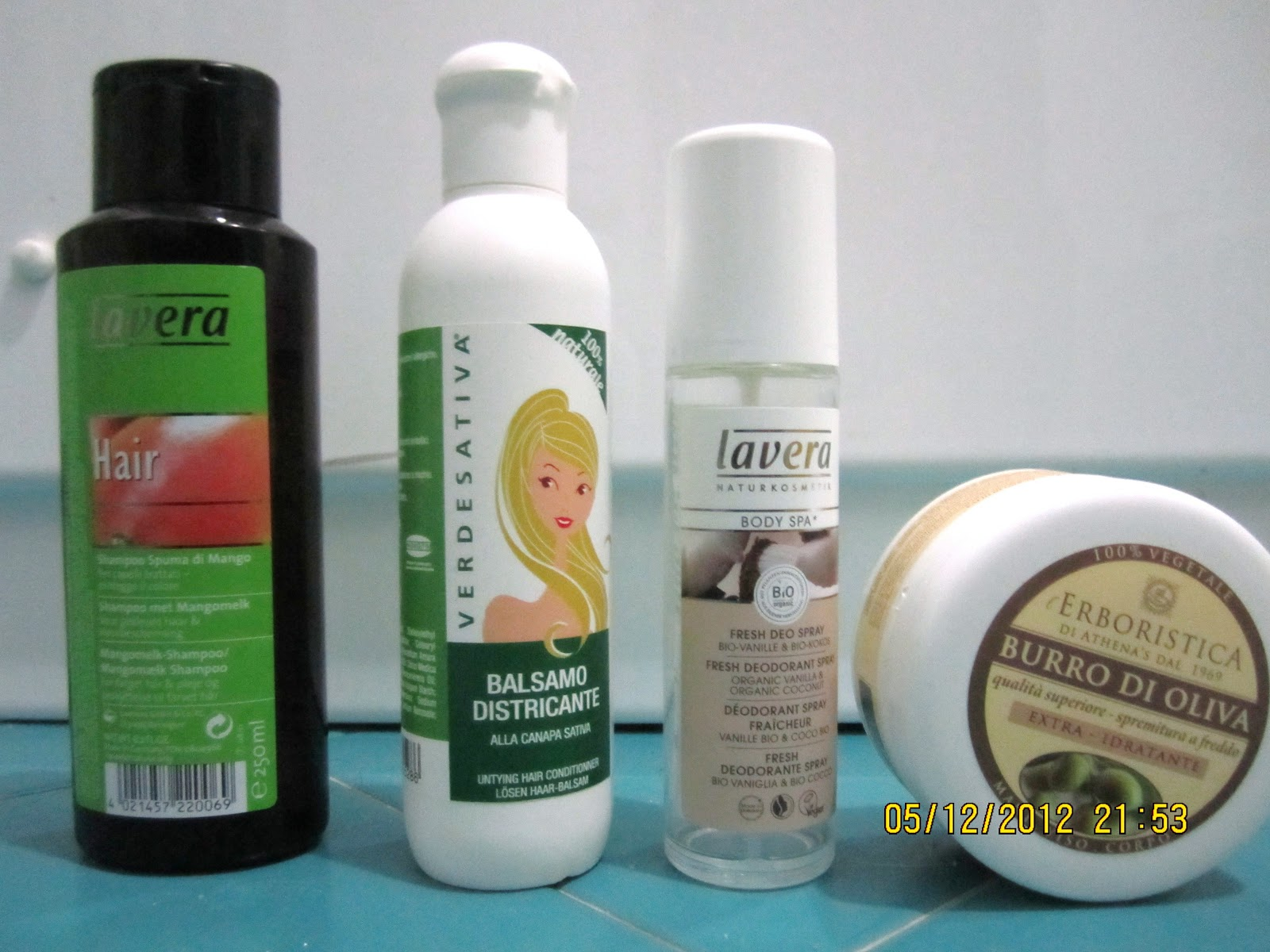 Shampoo lavera per capelli colorati