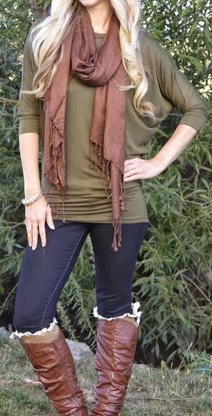 Casual Fall Outfit With Scarf