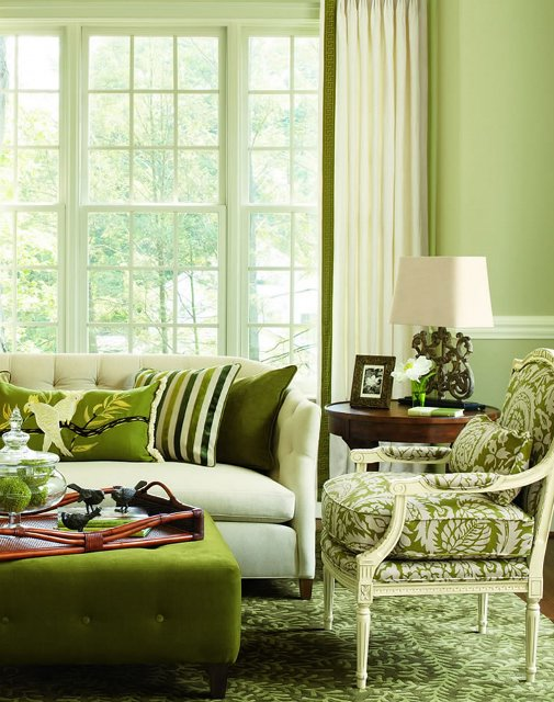 Beautiful abodes january 2013 for Apple green living room ideas