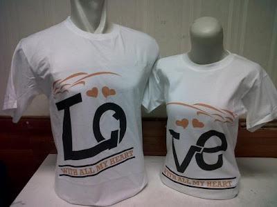 Baju Couple Keren Kaos Couple Tshirt