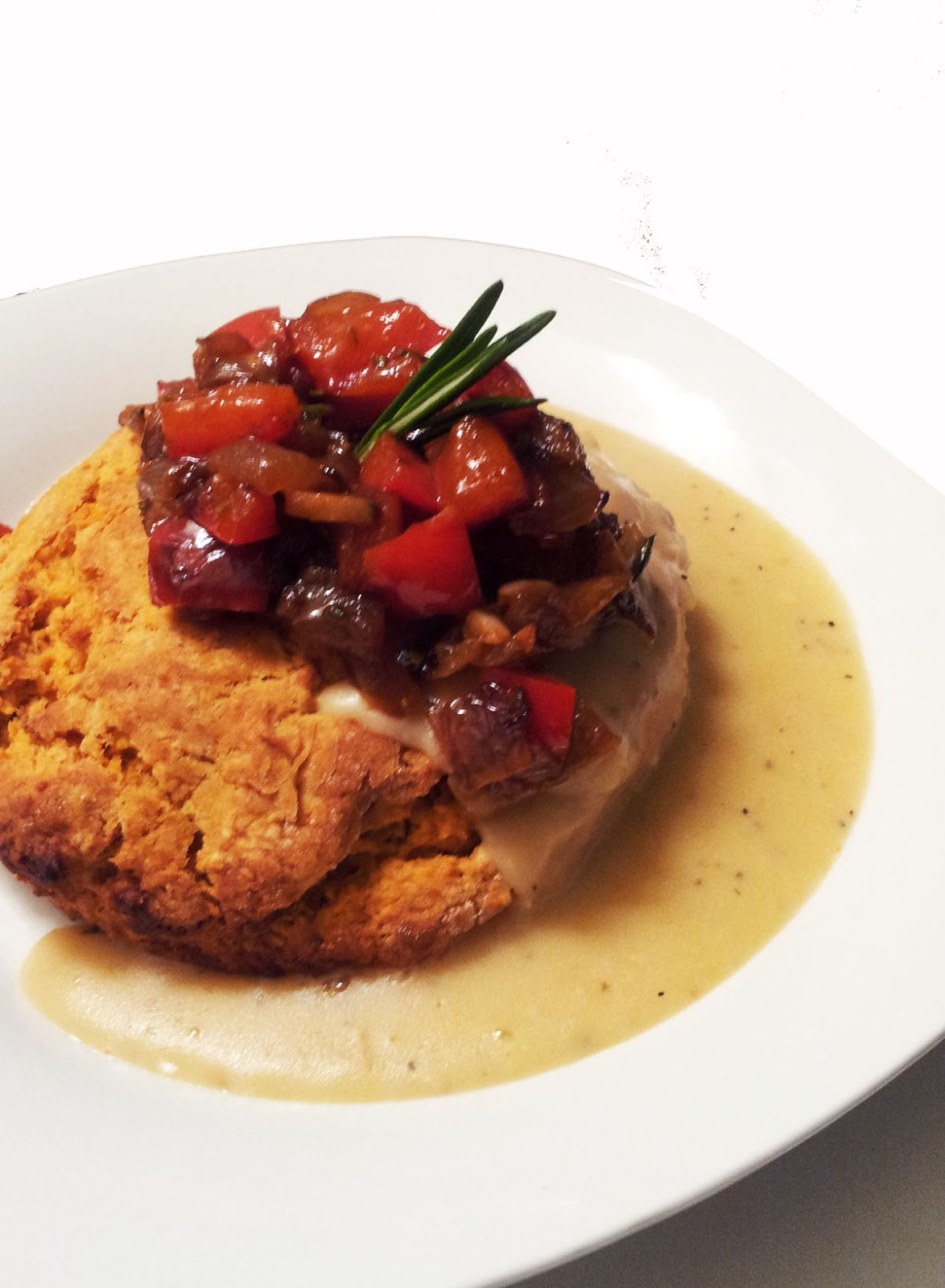 ... biscuits and gravy try these sweet potato biscuits this recipe makes 4