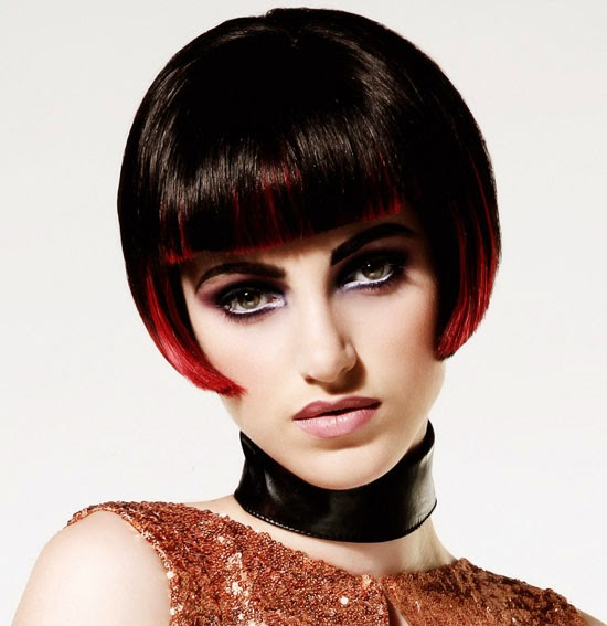 Short Posh Bob Hairstyles with Hair Color Contrasts