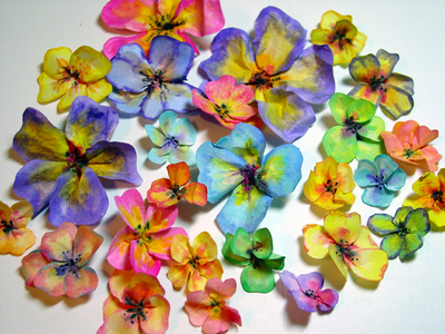 Diy rice paper flowers live healthy craft often love fully cut japanese rice paper into random flower shapes i found a booklet of 100 sheets at acmoore in the art supply area 2 place one cut flower on waxed paper mightylinksfo