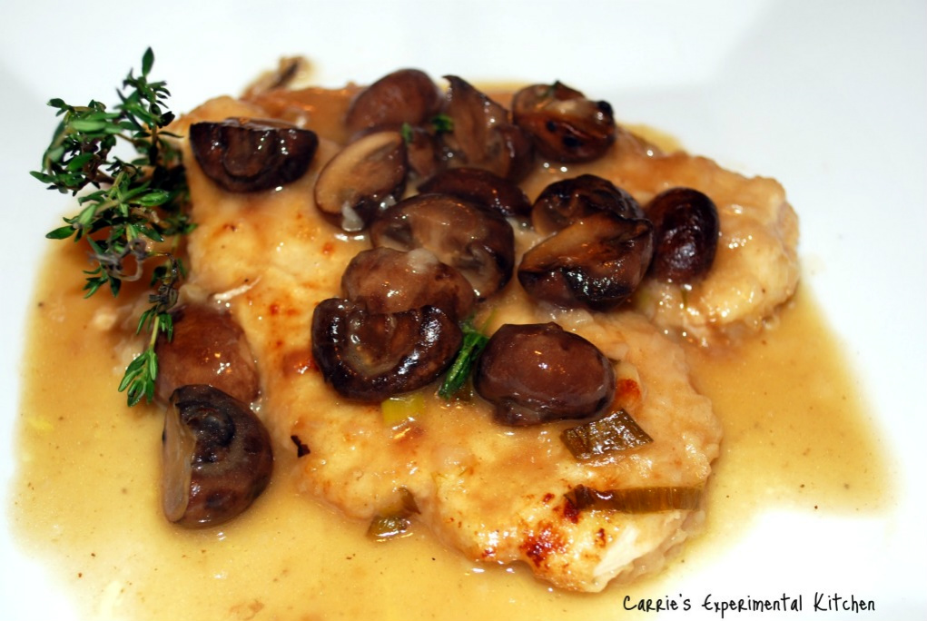 Champagne Chicken with Baby Portobello Mushrooms - Carrie's ...