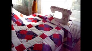 n hen und handarbeiten mit iloncialu patchworkdecke selber n hen videoanleitung teil 1 6. Black Bedroom Furniture Sets. Home Design Ideas