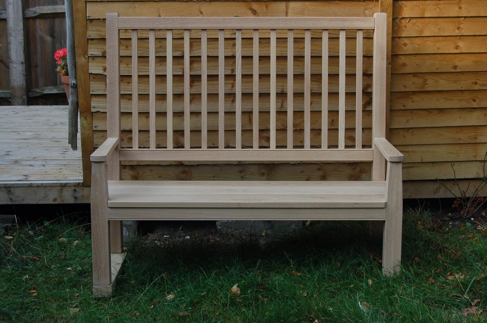 Arthur Robbins High Back Low Seat Oak Bench