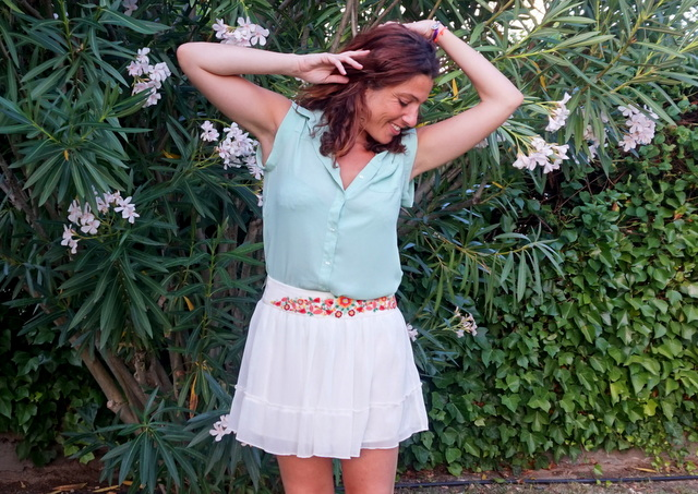 camisa verano mujer menta