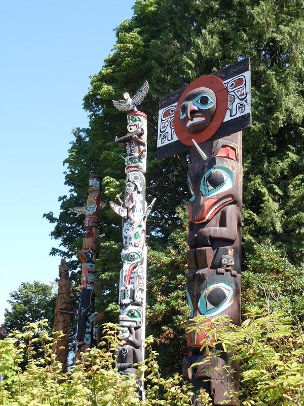 Totem poles Vancouver