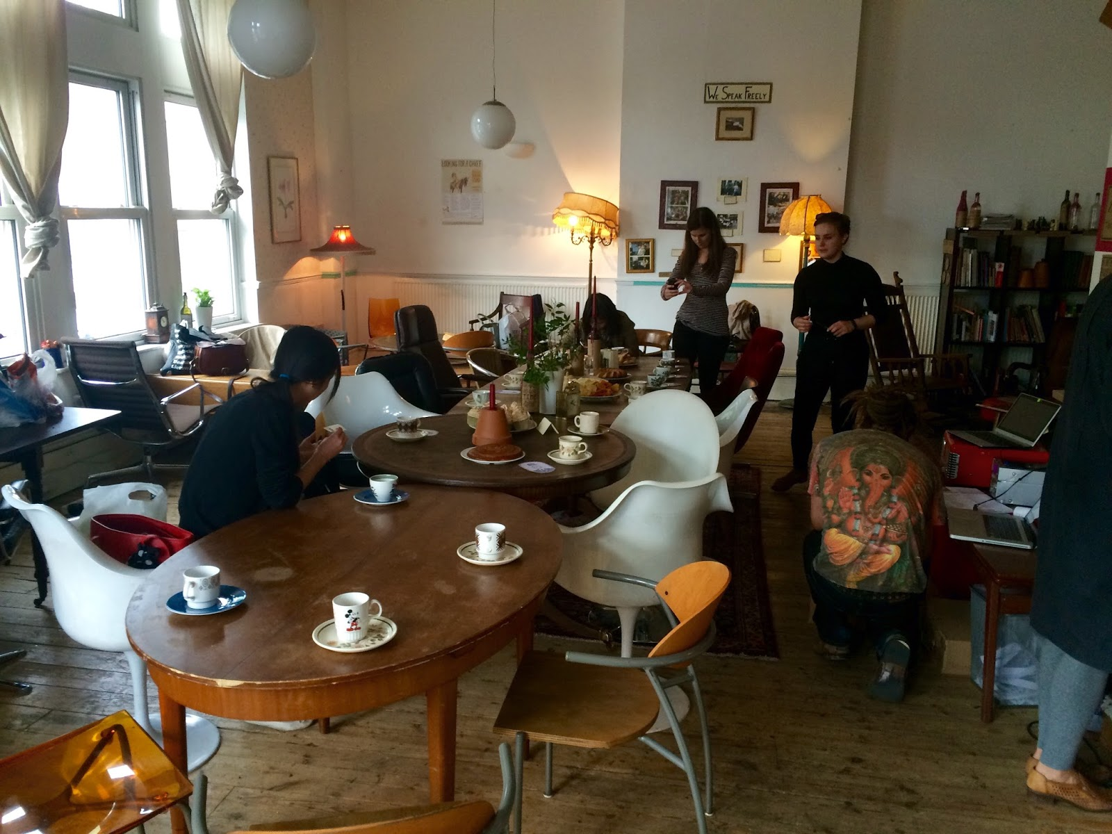 Our Wonderful Host David From Ziferblat Kept The Tea Flowing And Conversation Lively His Passion For Cafe Living Room Was So Engaging He Also
