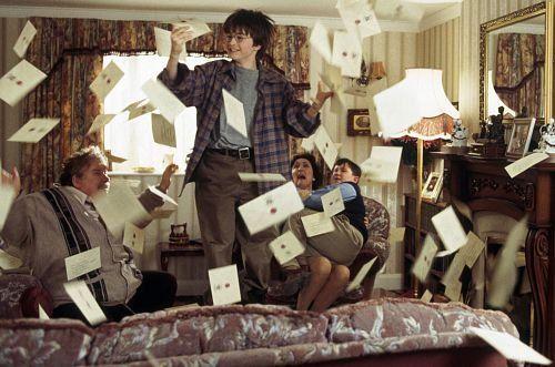 Harry Potter, Hogwarts, letters, Daniel Radcliffe, Richard Griffiths